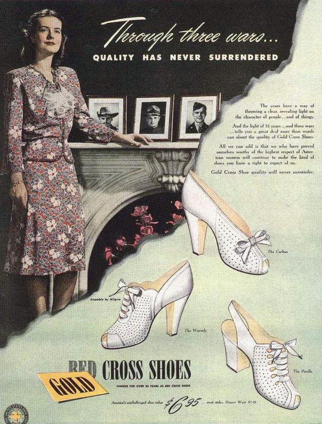 Anuncio para los zapatos de la Cruz Roja 1944