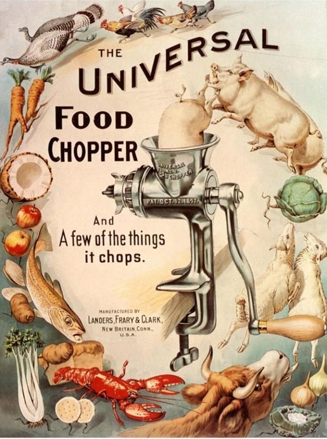 Vintage anuncio: picador universal, a partir de 1890