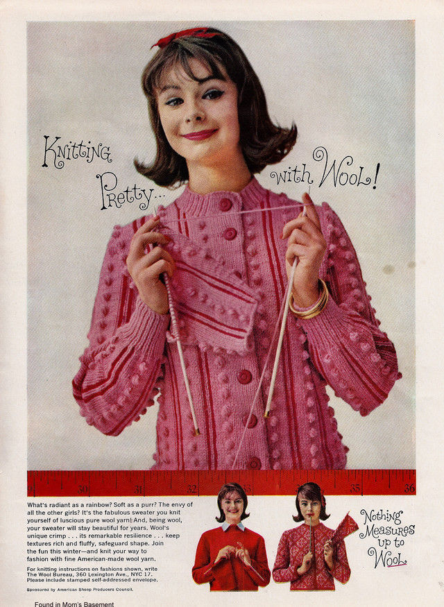 Cute 1959 ad for knitting wool