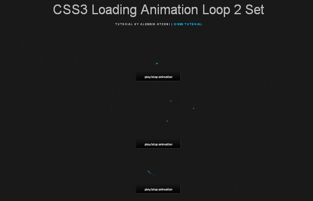 CSS3 Loading Animation Loop 2 Set