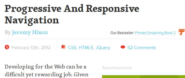 Progressive And Responsive Navigation