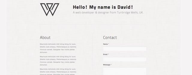 Create A Minimal Single Page Portfolio With HTML5/CSS3