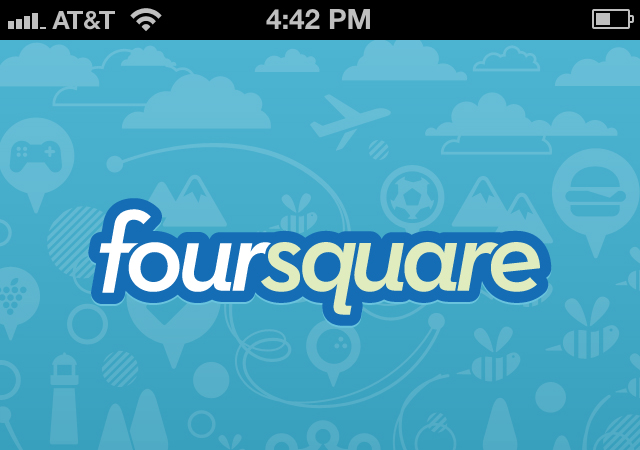 Foursquare splash view image app
