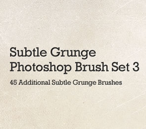 45 More Subtle Grunge Photoshop Brushes