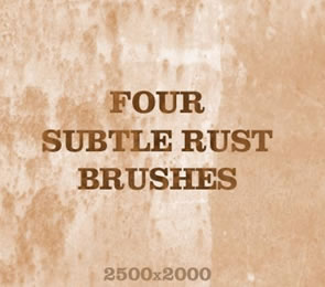 4 Subtle Rust Photoshop Brushes