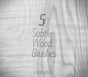 5 Subtle Wood Photoshop Brushes