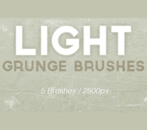Light Grunge subtle Photoshop Brushes