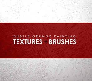 20 High-Res Subtle Grunge Painting Textures Photoshop Brushes