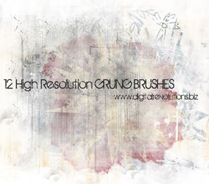 12 High-Resolution Grunge Texture subtle Photoshop Brushes