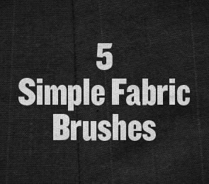 Simple Fabric subtle Photoshop Brushes