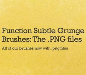 Function Subtle Grunge Brushes for Photoshop