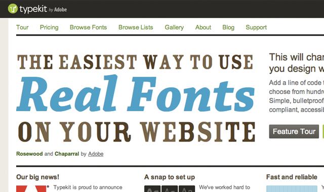 TypeKit typography online web design