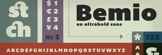 Bemio is a free css web font