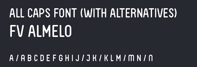 FV Almelo is a free css web font