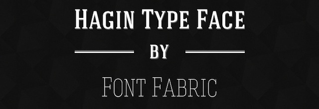 Hagin is a free css web font