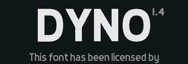 Dyno is a free web fonts