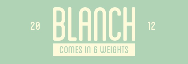 Blanch is a free css web font