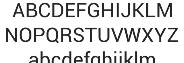 Roboto is a free css web font