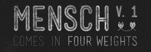 Mensch is a free css web font