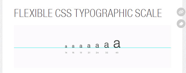 Flexible CSS Typographic Scale