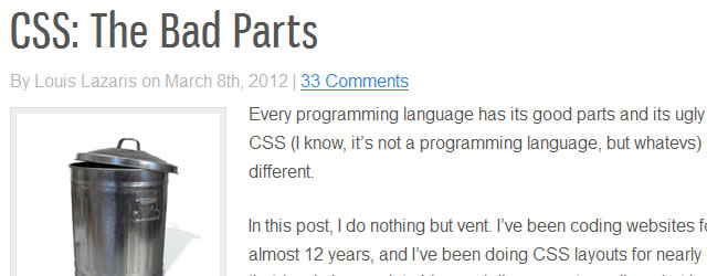 CSS: The Bad Parts