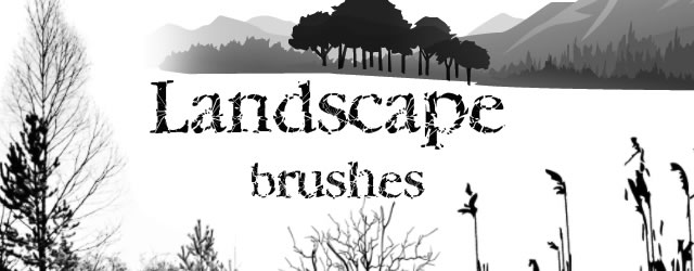 Landscape Free Photoshop Brushes