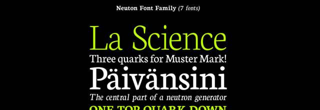 Neuton is a free css web font