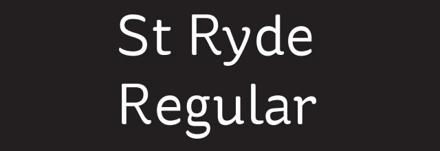 St Ryde regular is a free css web font