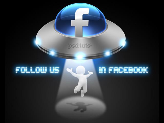 Create a Social Media UFO Icon