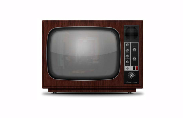 Detailed Vintage TV icon from Scratch