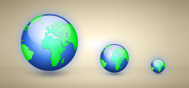 Draw a Globe Icon in photoshop