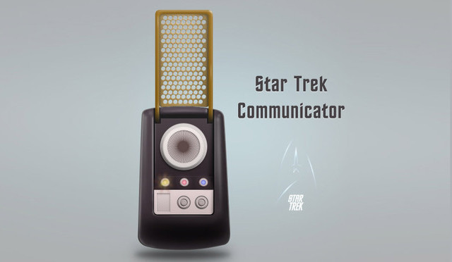 In this tutorial they'll draw a retro Star Trek style communicator