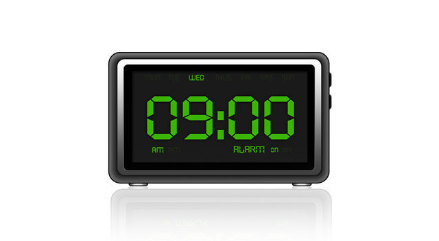 Stock Royalty Vector Digital Clock