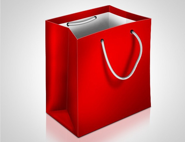 How to Draw a Shopping Bag Icon