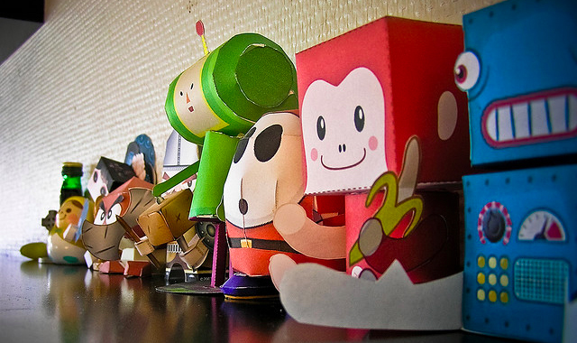 Nintendo and video game paper characters