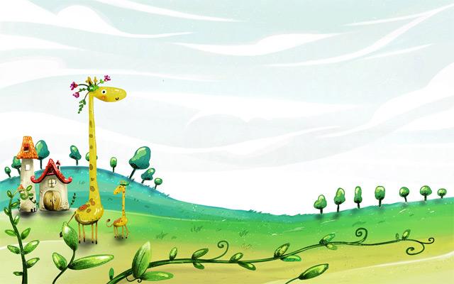 Spring giraffe