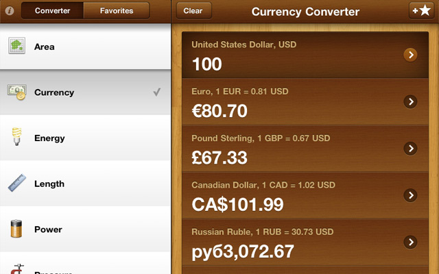 GlobeConvert Pro: Currency & Units Converter for iPad