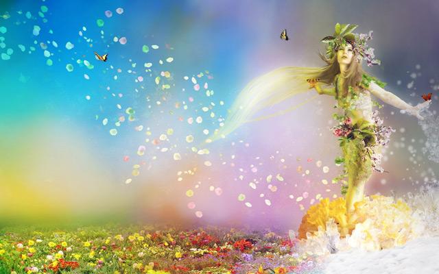 Goddess Spring Wallpaper