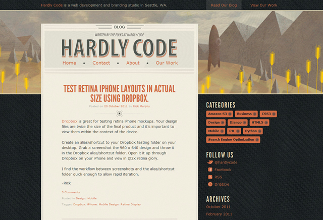 Hardly Code Blog