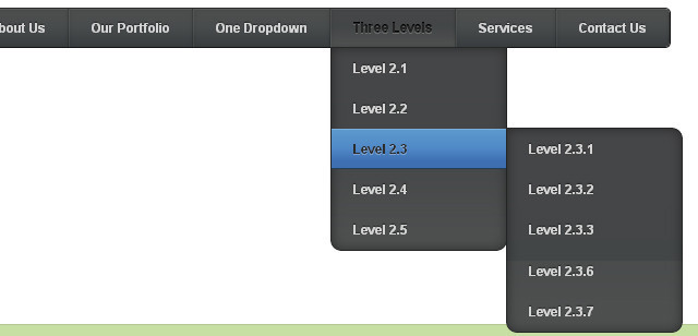 Pure CSS3 Multi Level Drop Down Navigation Menu