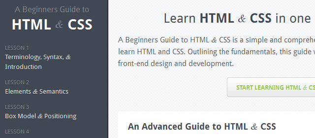 A Beginners Guide to HTML & CSS