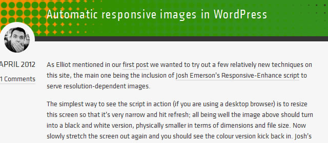 Automatic Responsive Images in WordPress