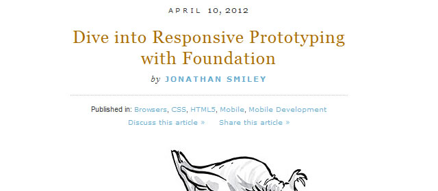 Dive into Responsive Prototyping with Foundation