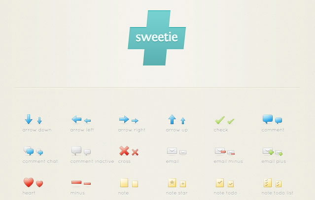 The SweetiePlus Icon Set