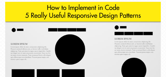 5 Really Useful Responsive Design Patterns