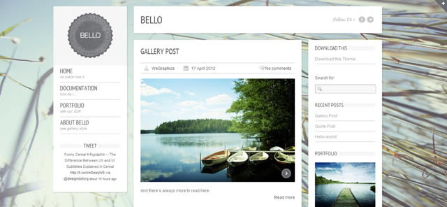 Bello: A Free WordPress Theme