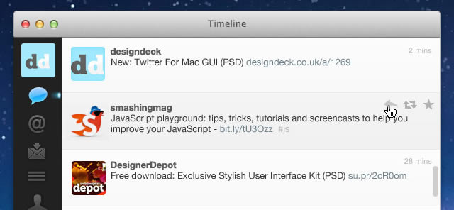 Twitter For Mac GUI (PSD)