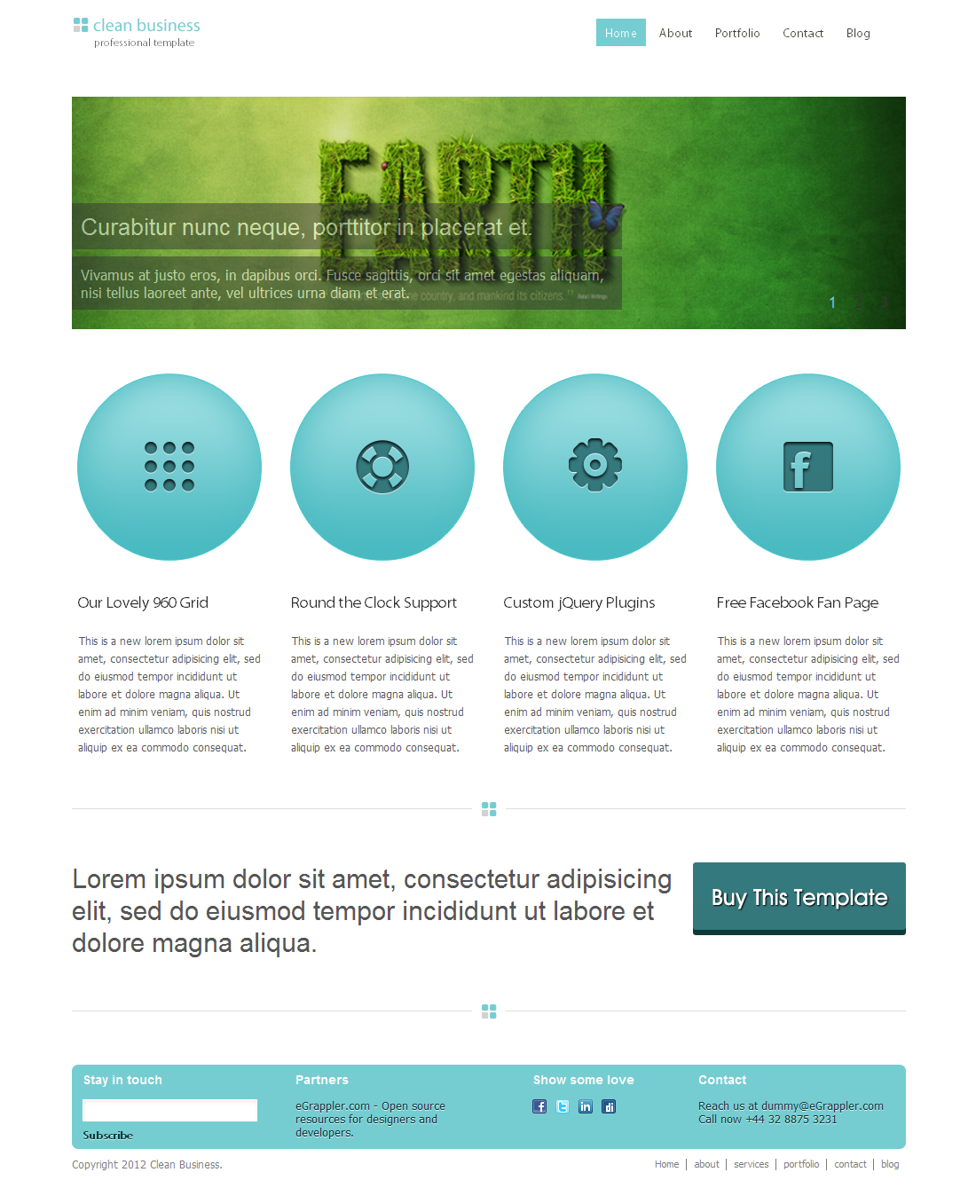 Free clean business htmlcss template free clean business template previews demo download view full size screenshottry wajeb