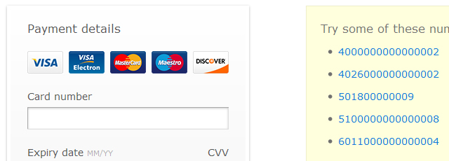 The jQuery Credit Card Validator detects and validates credit card numbers