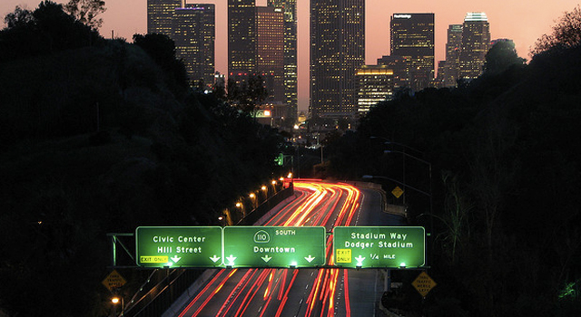 Los Angeles traffic from Elysian Park